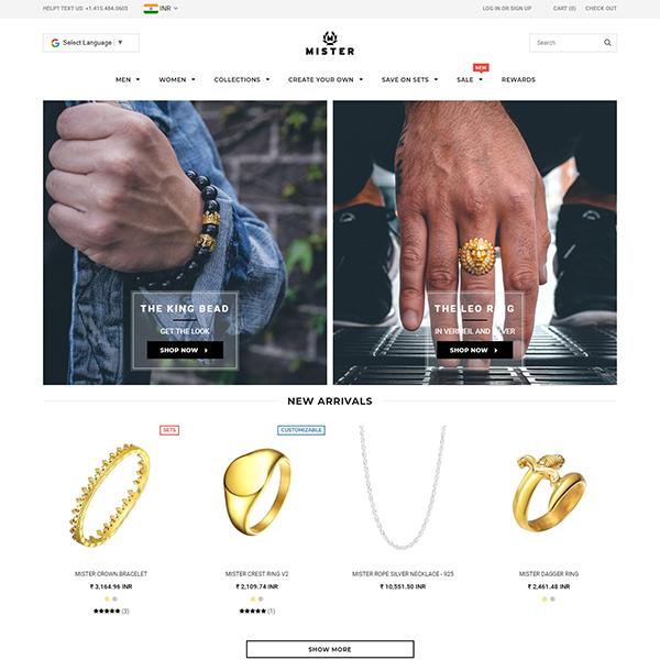 www.mrsfc.com-Shopify Plus Custom Jewellery Store