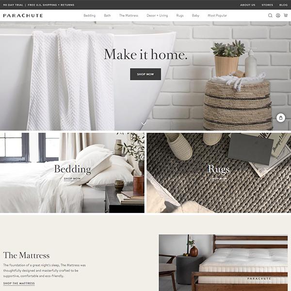 www.parachutehome.com-Shopify Plus Home Decor Store