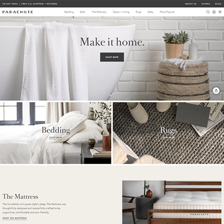 www.parachutehome.com-Shopify Plus Home Decor Store
