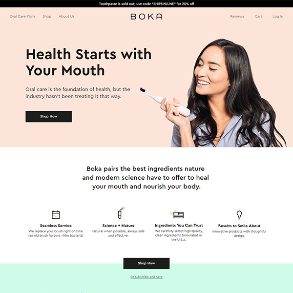 https://www.boka.com/ - Shopify Subscription site