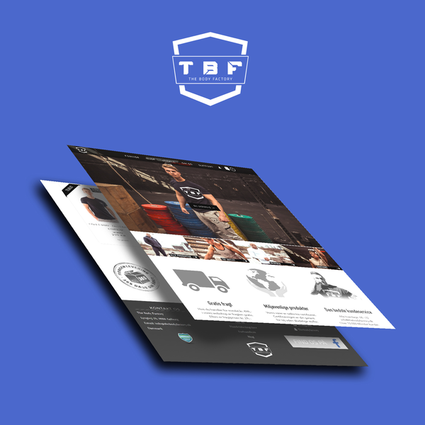TheBodyFactory.dk - Design and development