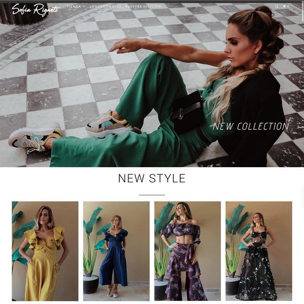 Tienda de diseñadora de modas e influencer Sofía Riganti