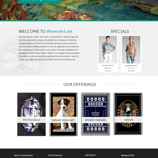 This custom weaving company needed an eCommerce store for wholesale and direct to consumer.