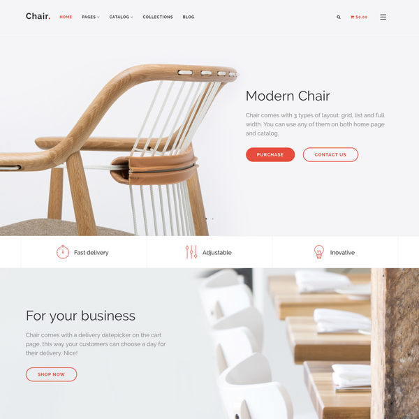 Chair Shopify Theme