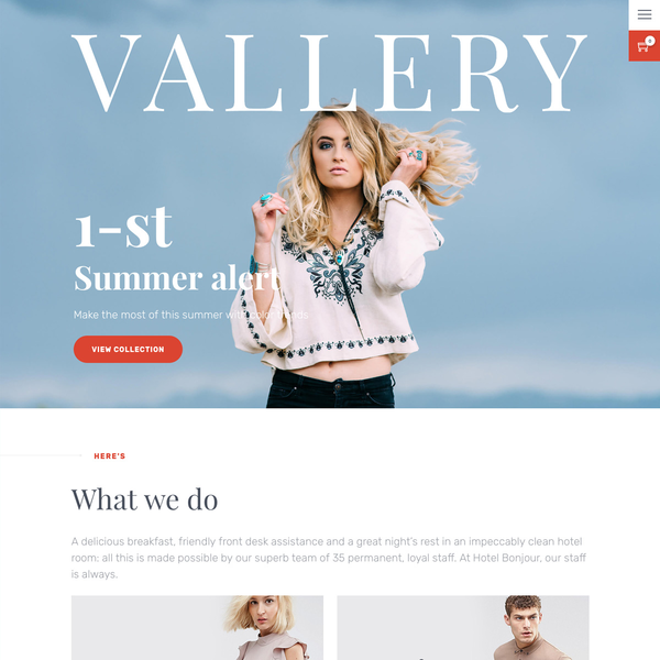 Vallery Shopify Theme