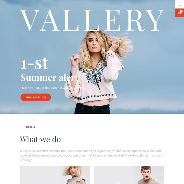Vallery Shopify Theme