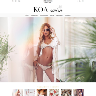 KOA Swim - Shopify Development by Elegant MicroWeb