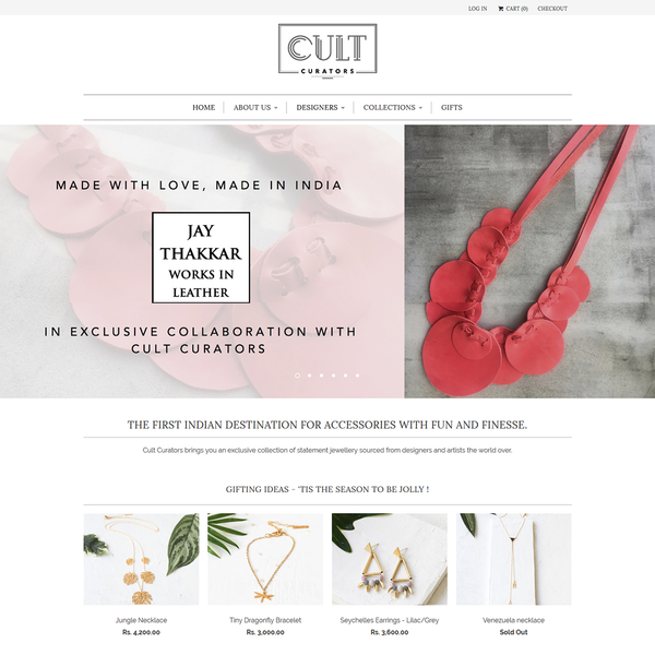 Cult Curators - Shopify Development by Elegant MicroWeb