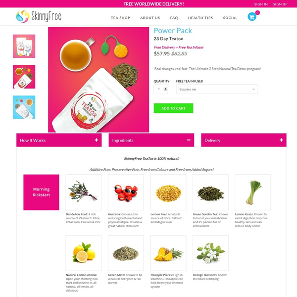An example of a product page