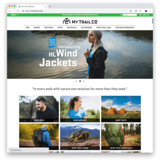 Custom website, product photography, and lifestyle photography for outdoor gear brand My Trail
