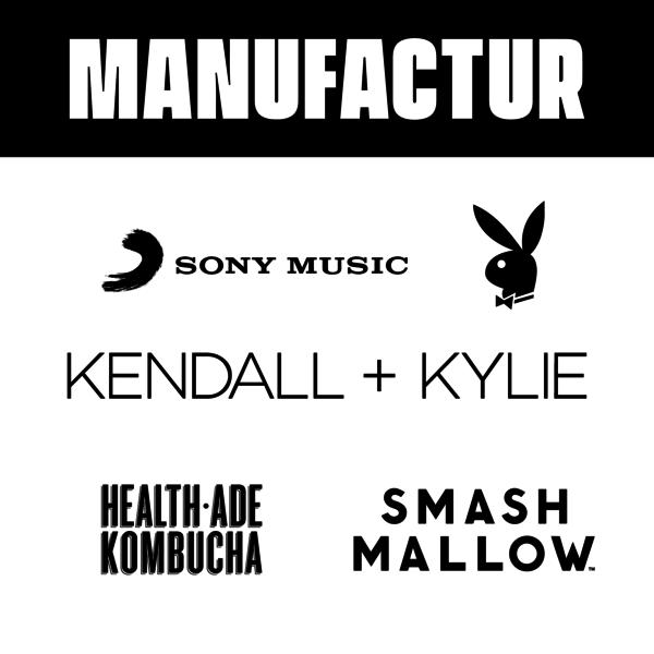 Kendall + Kylie, Smashmallow, Playboy, Health-Ade, Earnest Eats, Bonafide Provisions