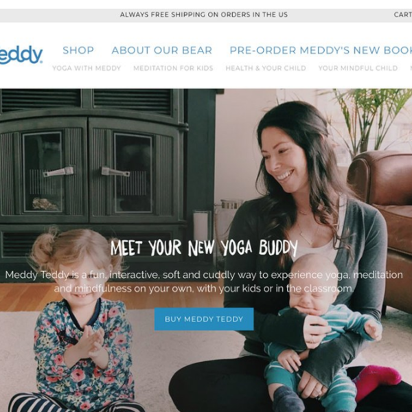 Meddy teddy Relaunch Package - Design, Development, Marketing + Photography