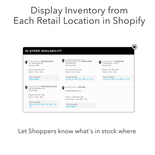 Display Retail Location Inventory in Shopify
