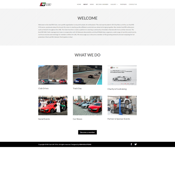 www.r8uae.com . This website was designed for the the Official Audi R8 Club in the UAE.