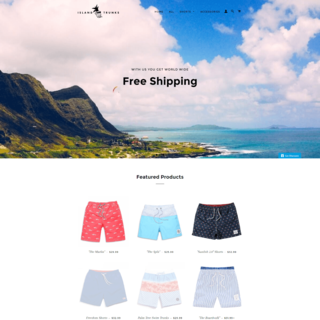 Successful Swimming Trunks E-Commerce Store
