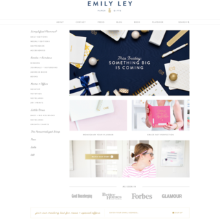 Emily Ley uses a ShopStorm solution to customize their Order Confirmation page.