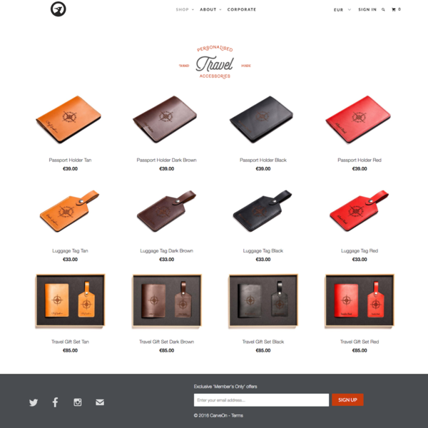 Carve On used ShopStorm to add custom options to their handmade leather goods.