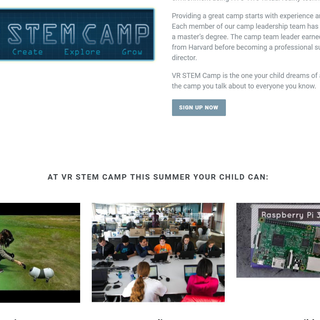 Implemented class registration site for Virtual Reality Gaming and STEM Camp