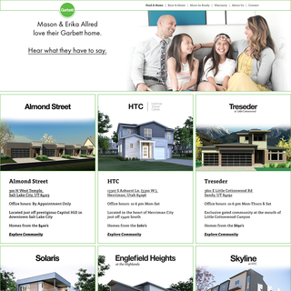 Garbett Homes web design and development