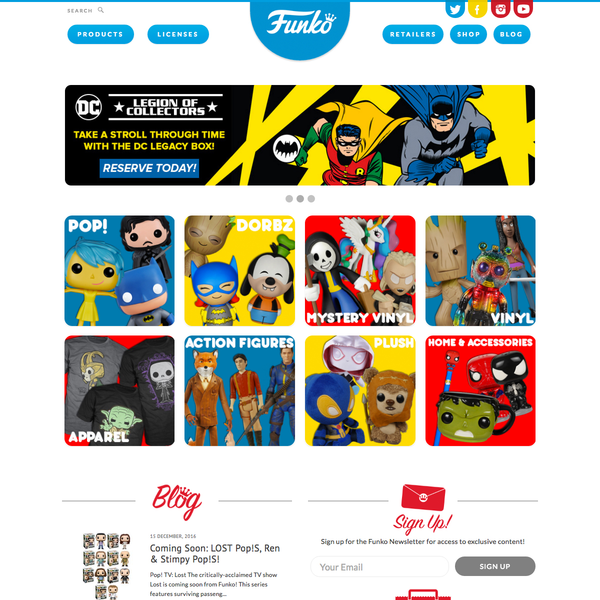 Funko.com homepage