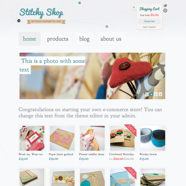 Stitchy Theme - Design/Brand and Build
