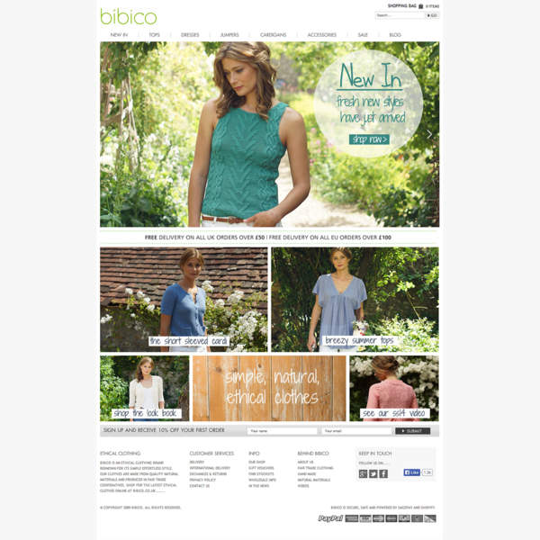 Bibico Clothing - Web Design/Build