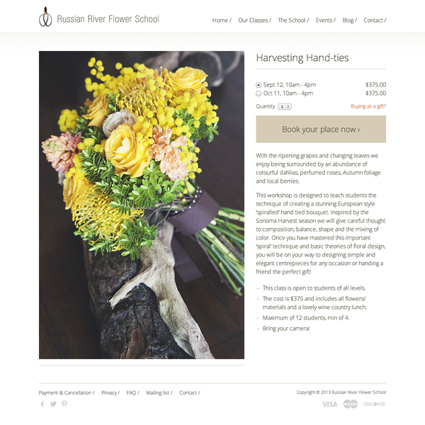 Russian River Flower School - Design and Brand work