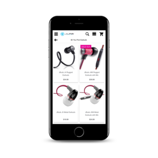 JLab Audio - Mobile Shopping Experience