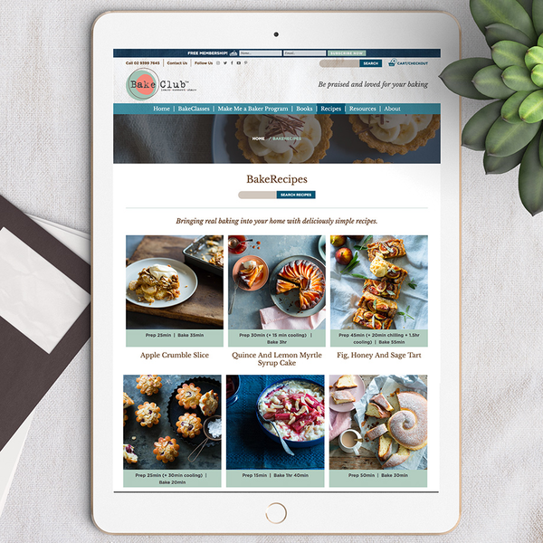 BakeClub - Recipes & Cookbook website