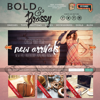 Bold & Brassy Boutique - Adorable indie clothing store from Northern Alberta. Designed by Div[1].