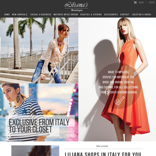 Liliana's Boutique - Online storefront for a local fashion boutique. Originally designed by Div[1].