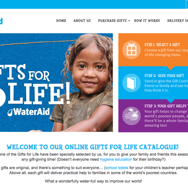 WaterAid Gifts For Life