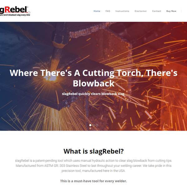 SlagRebel.com homepage.