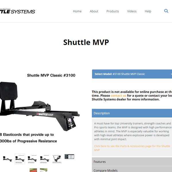 Shuttle MVP product page