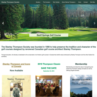 Stanley Thompson Society books and posters supporting Canada's premiere golf course architect.