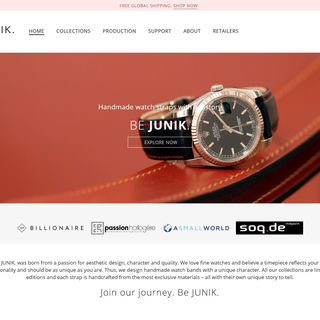 Design and development for Junik lifestyle, a dynamic ecommerce shop