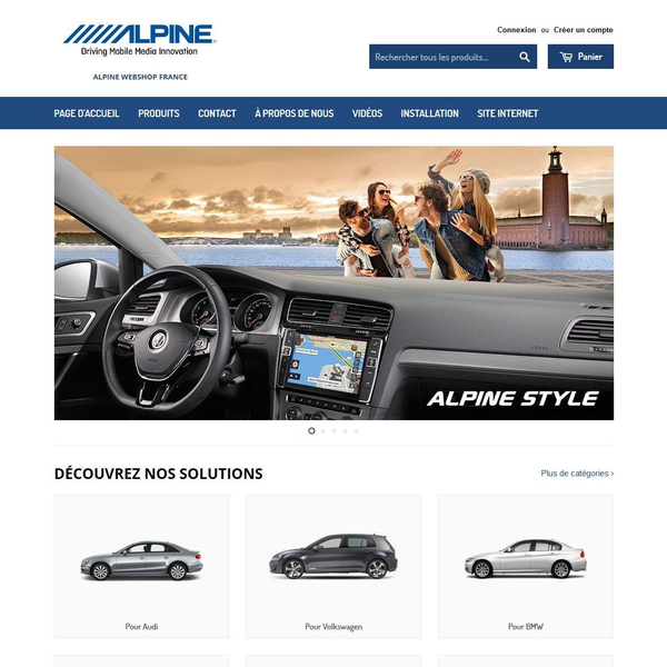 Design and development for Alpine Electronics A dynamic Shopify shop