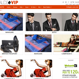 Design and development for Saldi VIP