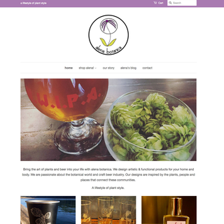 Homepage, AlenaBotanica site