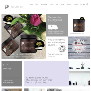 Pinks Boutique, PSD to Shopify