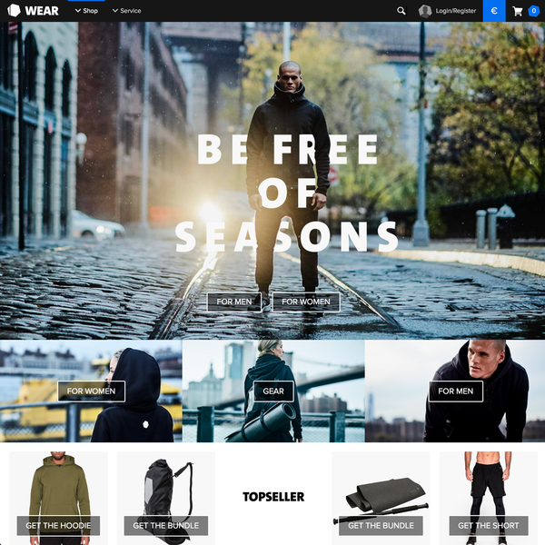 Shopify sections for the homepage – Freeletics Wear