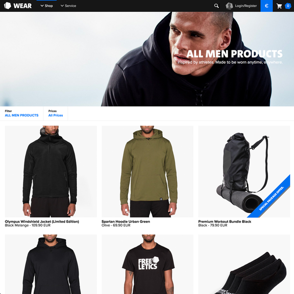 Collection with filter options and product bundles via Shopify Scripts – Freeletics Wear