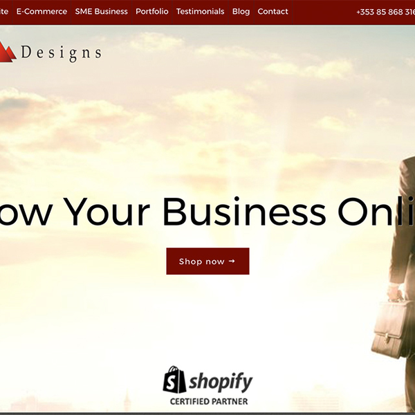 Attik Designs impactful homepage, set up to allow clients to purchase their services as products