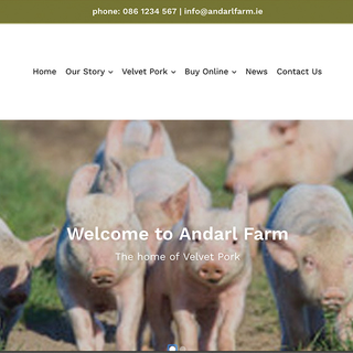 Simple design for Andarl Farm, showing the animals happy in their natural surrounds