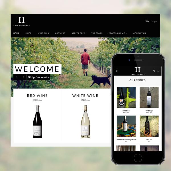 Two Vintners Winery Website