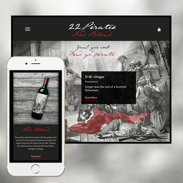 22 Pirates Winery Interactive Website