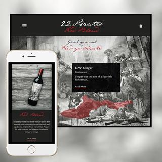 22 Pirates Winery Interactive Website