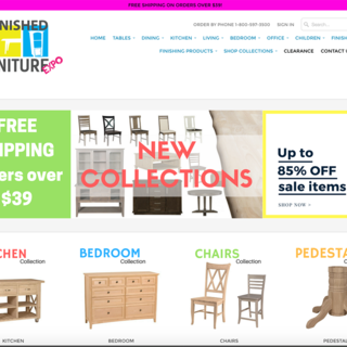 Unfinished Furniture Expo logo, graphics and complete store setup
