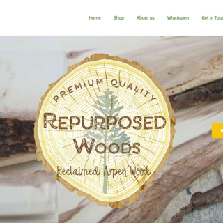 Repurposed Woods Logo, store design