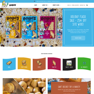 Eatbobos.com Custom Shopify Plus website